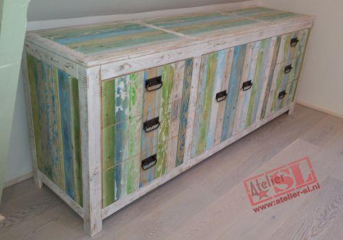 sloophout dressoir meubel op maat gemaakt van sloophout het dressoir ...